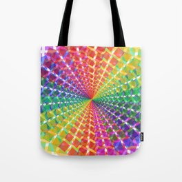 Colorful mosaic pattern design artwork- colorful christmas gifts- pixel art Tote Bag