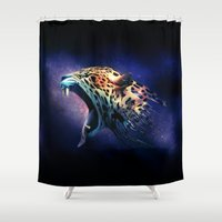 jaguar Shower Curtains featuring Jaguar by Federico Martinez