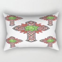 crystal celtic cross Rectangular Pillow