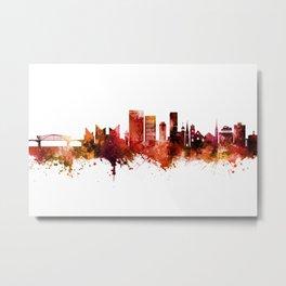 Chattanooga Tennessee Skyline Metal Print