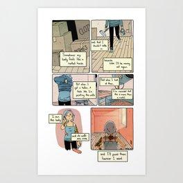 Renting Art Print