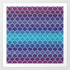 Watercolor Lovely Pattern VVIII Art Print