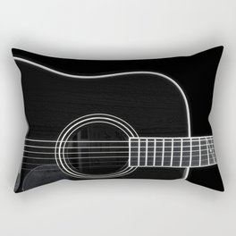 Guitar BW Rectangular Pillow