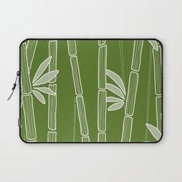 Jungle Green Bamboo Drawing Laptop Sleeve