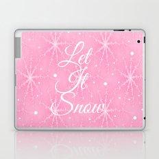 Let It Snow Pink Laptop & iPad Skin