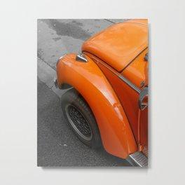 Orange beetle Metal Print
