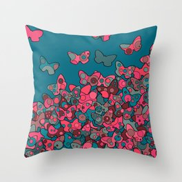 Flutterflies Throw Pillow