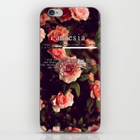 lyrics iPhone & iPod Skins featuring Amnesia Lyrics by WanderlustHipster