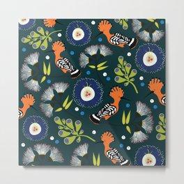 Hoopoe, bird pattern design Metal Print