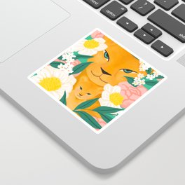 Mother Lion and Cub I Sticker