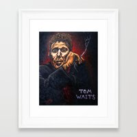 "tom waits Framed Art Prints featuring ""Tom Waits"" by PMS Artwork"