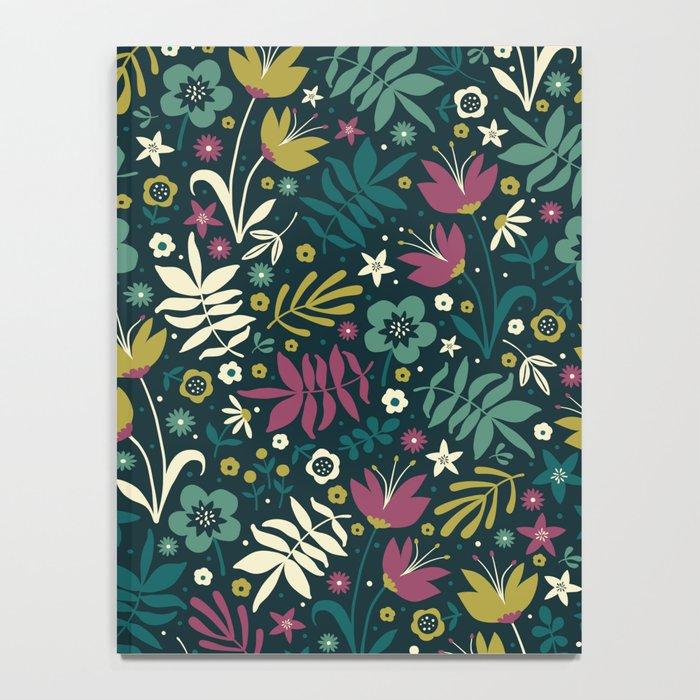 Midnight Florals (pop) Notebook