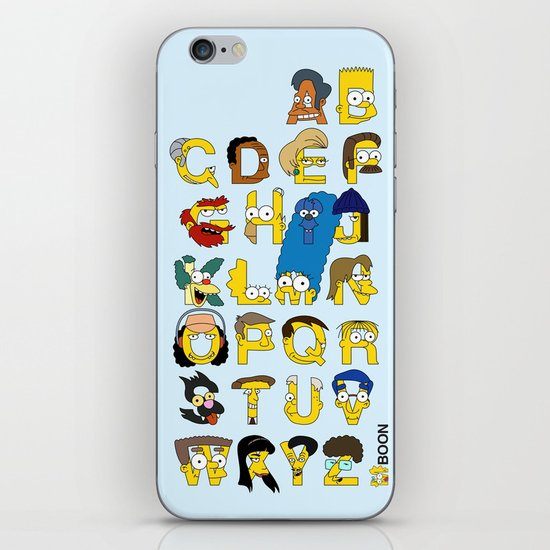 Simpsons Alphabet iPhone & iPod Skin