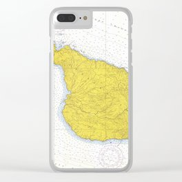 Vintage Map of Santa Catalina Island CA (1972) Clear iPhone Case