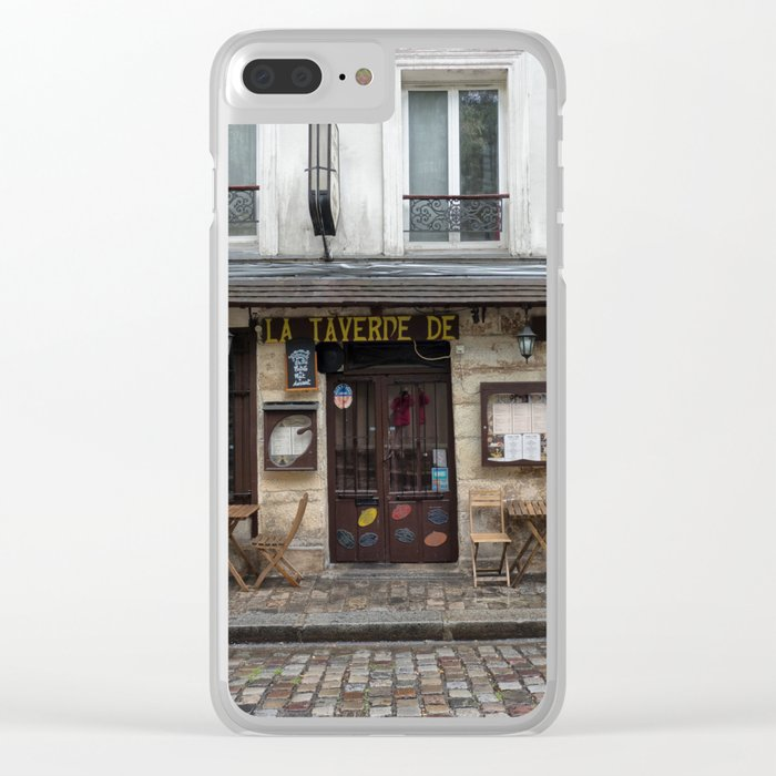 Cafe in Monmartre Paris Clear iPhone Case