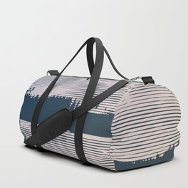 Frozen lake and trees Duffle Bag