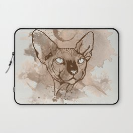 Watercolor Sphynx (Sepia/Coffee stain) Laptop Sleeve