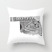 oklahoma Throw Pillows featuring Oklahoma by Line Upon Line Designs