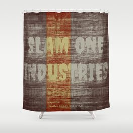 Slam 1 Industries Brick Houses Shower Curtain