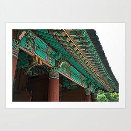 Korean Roof Art Print