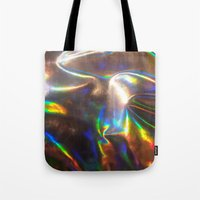 holographic Tote Bags featuring Holographic by viviennart