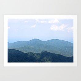 Blue Ridge Art Print