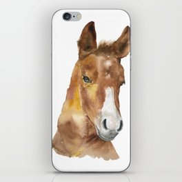 Horse Head Watercolor iPhone Skin
