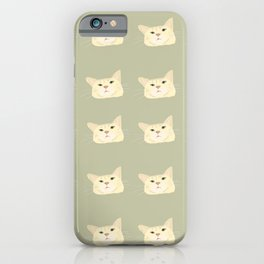 Sage green tabby cat  iPhone Case