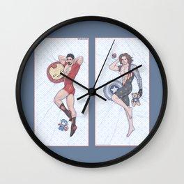 Tony and Bucky Pinups Wall Clock