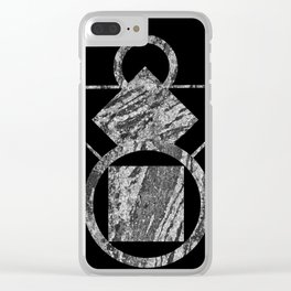 Granite ornament Clear iPhone Case