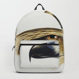 1 White-bellied sea eagle (Haliaeetus leucogaster) 2 Whistling kite (Haliastur sphenurus) illustrate Backpack