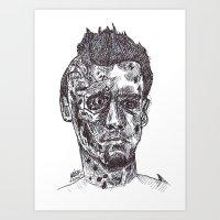 terminator Art Prints featuring Terminator by Americo Artspace