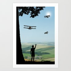 Childhood dreams, Flypast Art Print
