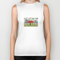 circus Biker Tanks featuring circus by Dachie