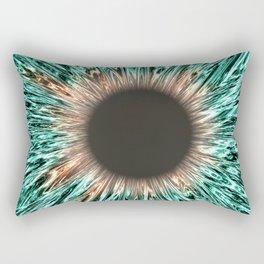 The Blue-Green Iris Rectangular Pillow
