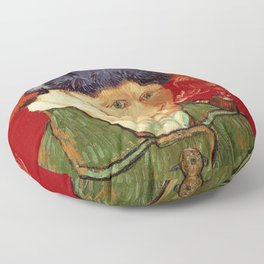 Vincent van Gogh Self-portrait with Bandaged Ear and Pipe Floor Pillow