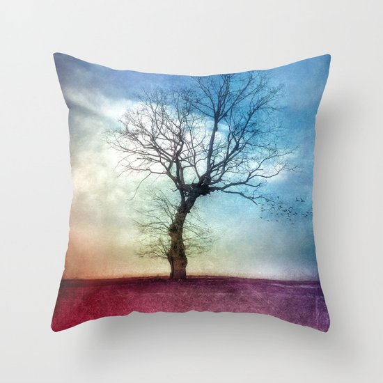 ATMOSPHERIC TREE III Throw Pillow