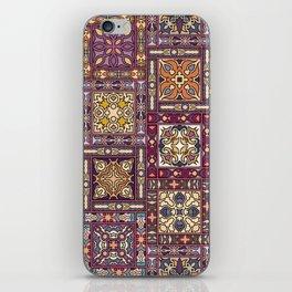 Vintage patchwork with floral mandala elements iPhone Skin