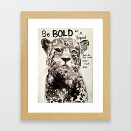 Bold As A Leopard Framed Art Print