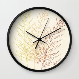 Red Ferns Wall Clock