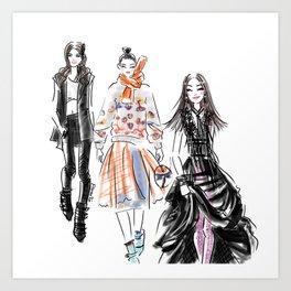 Fashion Week Art Print
