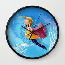 Bird woman Wall Clock