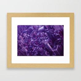 Lavender City Framed Art Print