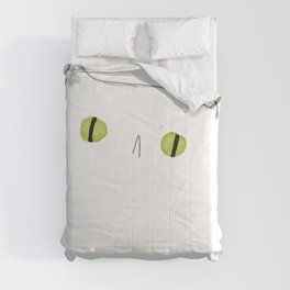 White Cat Face Comforters