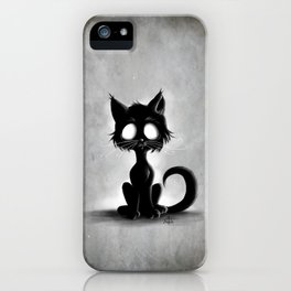 Creepy Cat iPhone Case
