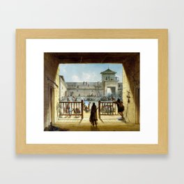 Alfred Jacob Miller Interior of Fort Laramie Framed Art Print