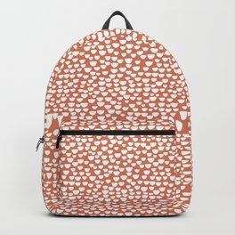 Half Circles - White on Tan Backpack