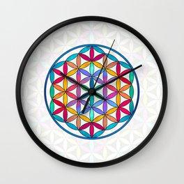 Flower of Life variation 3 Wall Clock