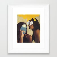 sisters Framed Art Prints featuring sisters by Jesse Treece