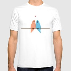 Love Birds Mens Fitted Tee White MEDIUM